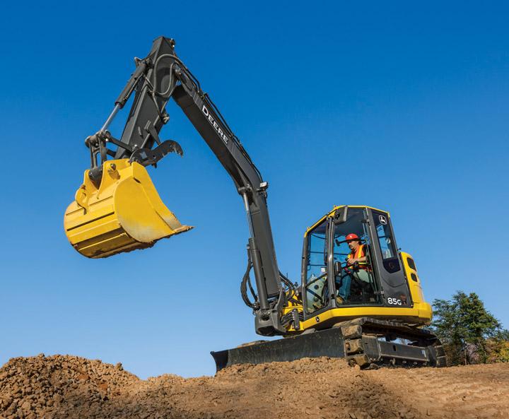 John Deere Updates 75G and 85G Excavators