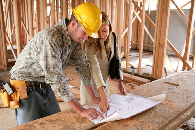 home construction contractor architect blueprints