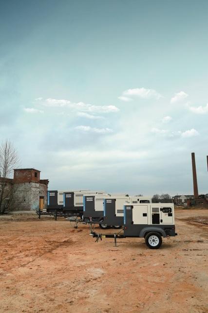 Atlas Copco gas diesel generator