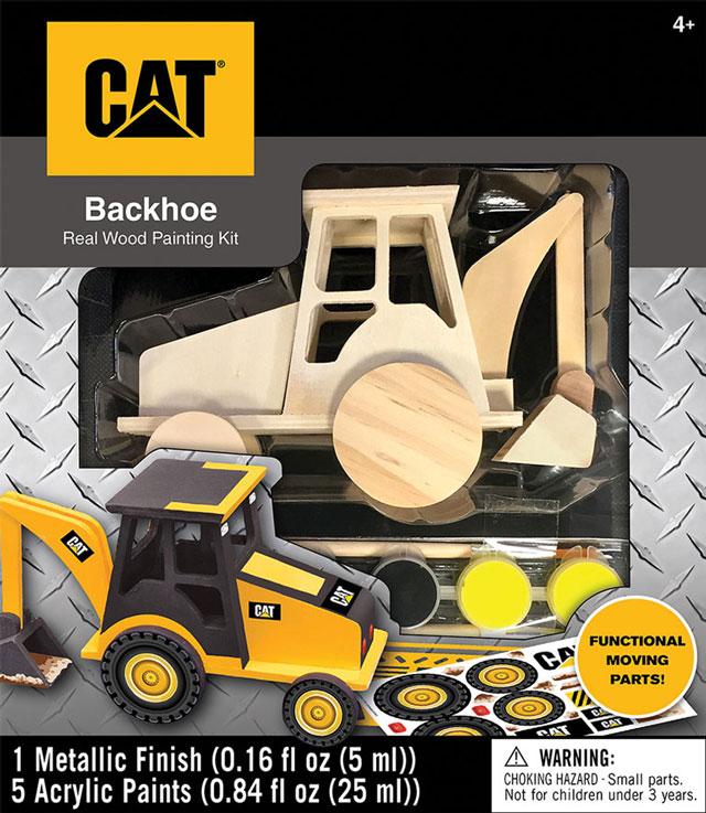 cat wooden backhoe paint kit