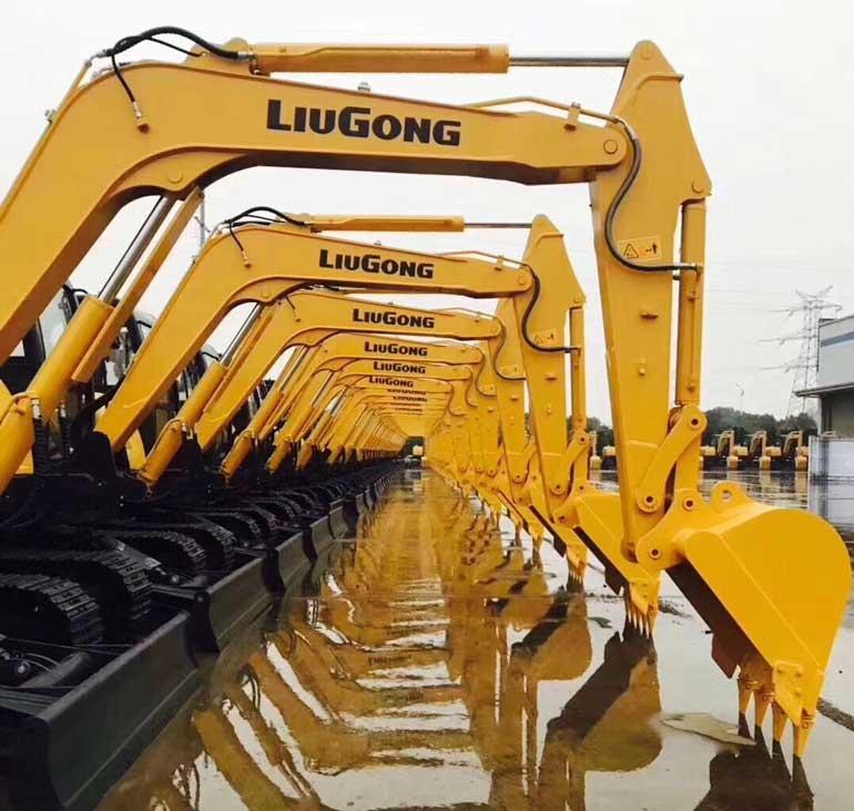 LiuGong excavators