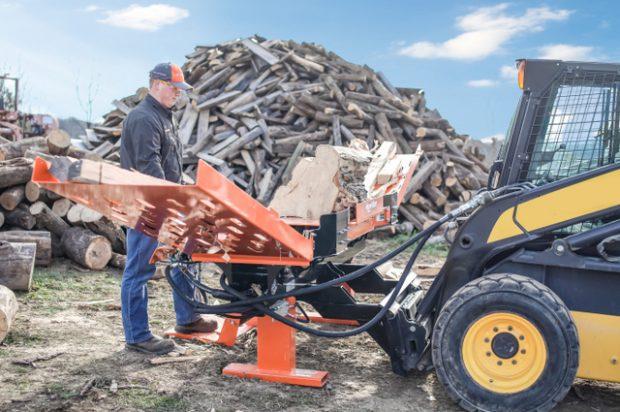 Wood-Mizer Introduces FS350 Skid Steer Log Splitter