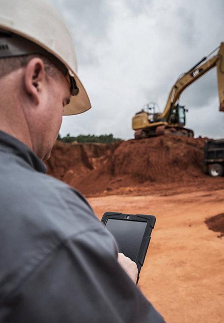 Cat Inspect Tablet construction worker