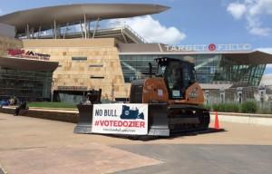 Minnesota Twins enlist Case 850M dozer for MLB All-Star Final Vote Campaign