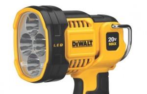 Dewalt introduces new portable jobsite LED spotlight with extended run-time