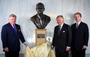 Beautiful Bronze Artwork Honors Mr. JCB on the 100th Anniversary of His Birth