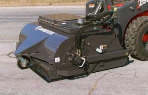 Sweepster VS features vacuum dust abatement system