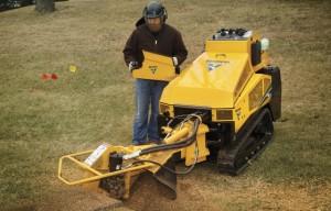 Vermeer SC40TX stump cutter features cool ride-on platform