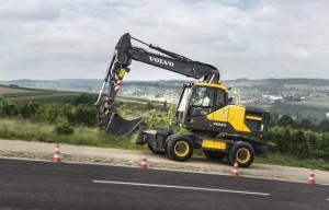 Volvo's new EW160E and EW180E wheeled excavators