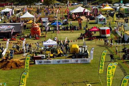 Spread out over 19 acres, the outdoor demonstration area at the GIE+EXPO featured live demos from about 100 exhibitors.
