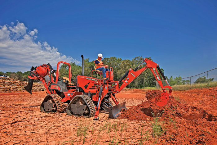 The RT80 Quad Ride-On Trencher Tackles All Types of Dig Operations