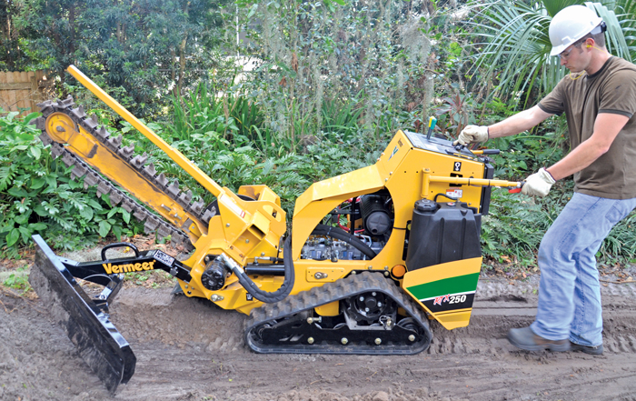 The new Vermeer RTX250 pedestrian trencher