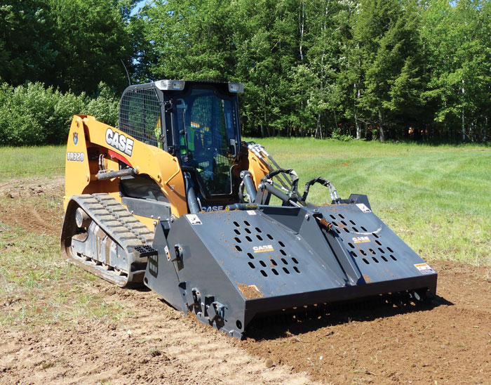 Compact track loaders are great for dirt, grade and seed work.