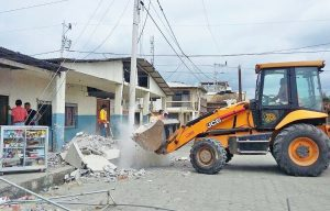 JCB Donates 3CX Backhoe Loader to Help Quake-Hit Ecuador