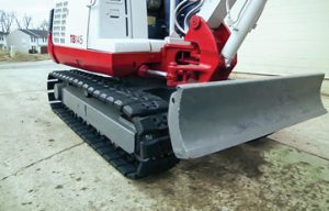 Track options for compact excavators