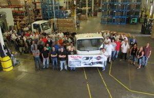 Isuzu and Spartan Motors Celebrate Production of the 30,000 N-Series Gas Truck