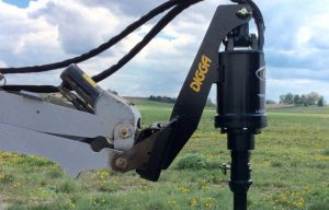 Digga's New Mini Loader Extension Mount Delivers Powerful Auger Drive Performance