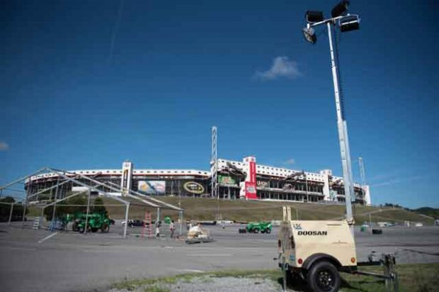 Doosan Portable Power Light Towers Shine Over College Football's Biggest Ever Game Day