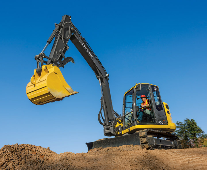 John Deere Updates 75G and 85G Excavators