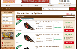Black Splitter Wood Splitting Attachments Now Available Online