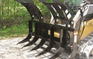 Check out this gnarly new skid steer brush grapple from Worksaver