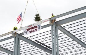 Final Beam Placed on Lincoln Electric's New Welding Training Center
