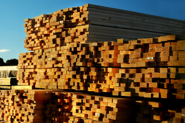 lumber materials sunset wood