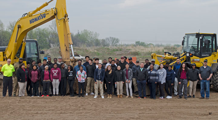 Group of North Carolina High School Students at Extreme Sandbox