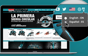 Makita Website Now Offers Easy Transition to Spanish Language Content
