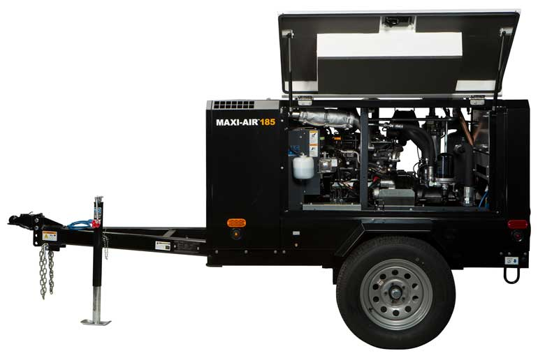 The Maxi-Air 185 compressor provides consistent, high-pressure air volumes at low rpm for enhanced fuel efficiency.