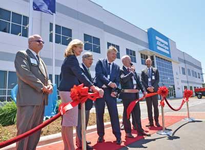 Atlas Copco grand opening: ribbon cutting