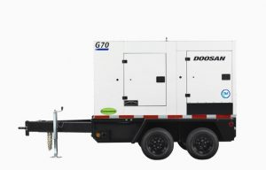 Details on Doosan's three newly designed mobile generators
