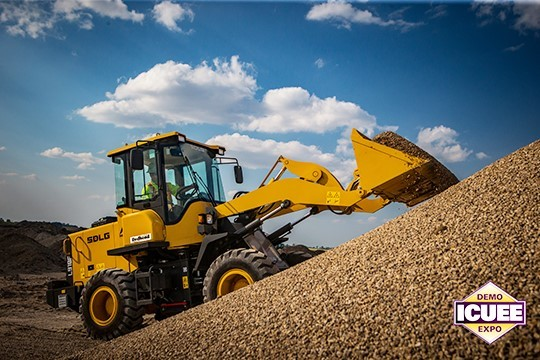 SDLG compact wheel loader ICUEE