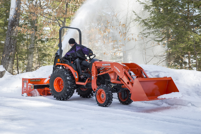 Kubota snow snowblower tractor