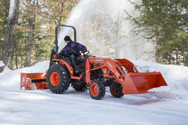 Kubota snow snowblower tractor
