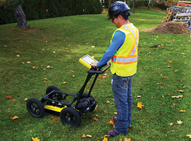 It's important to have a general understanding of locating technology so that you'll know which one to apply to your specific project. GPR, pictured here, is ideal for locating non-conductive buried assets such as clay and PVC pipes.