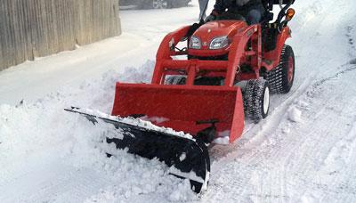 Kubota snowplow