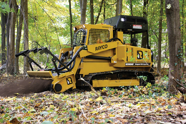 Rayco brush cutter track loader