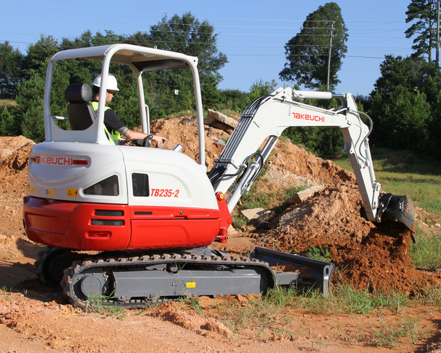 Takeuchi TB235-2 Working #2