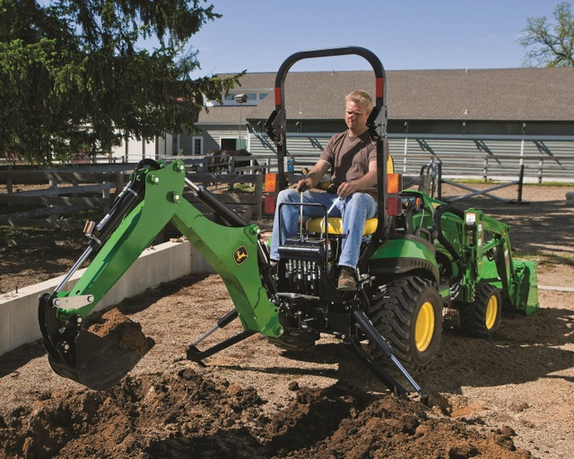 John Deere TractorwBackhoe