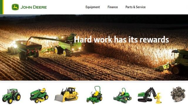 John Deere US Products Services Information WEbsite