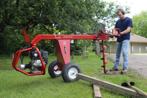 Dig this Towable Hydraulic Earth Drill from Little Beaver