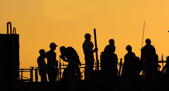 construction site sihouette