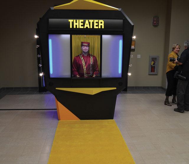 Cat's yellow carpet premiere.