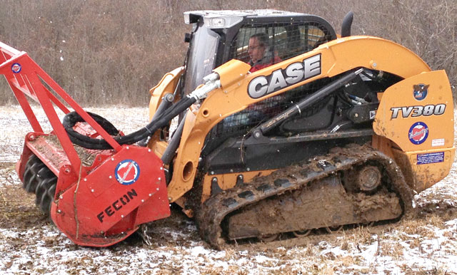 skid steer with attachment