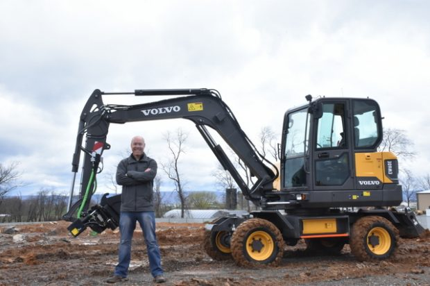 Editor at Large: Visiting Volvo Construction Equipment in Pennsylvania to operate the EW60E wheeled compact excavator