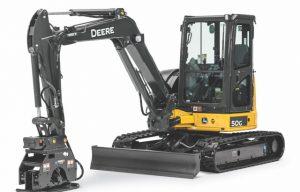 John Deere Introduces Compact Excavator/Backhoe Vibratory Plate Compactors