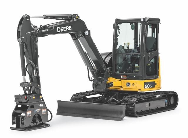 John Deere studio excavator plate compactor 1