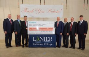 Friday Accolades: Kubota Mfg. of America and Kubota Industrial Equipment Announce $1M Donation to the Lanier Technical College Foundation