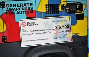 Chicago Pneumatic Power Technique Raises Awareness for Autism